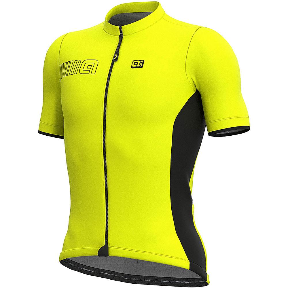 Alé Solid MC Colour Block Jersey – Fluro Yellow, Fluro Yellow