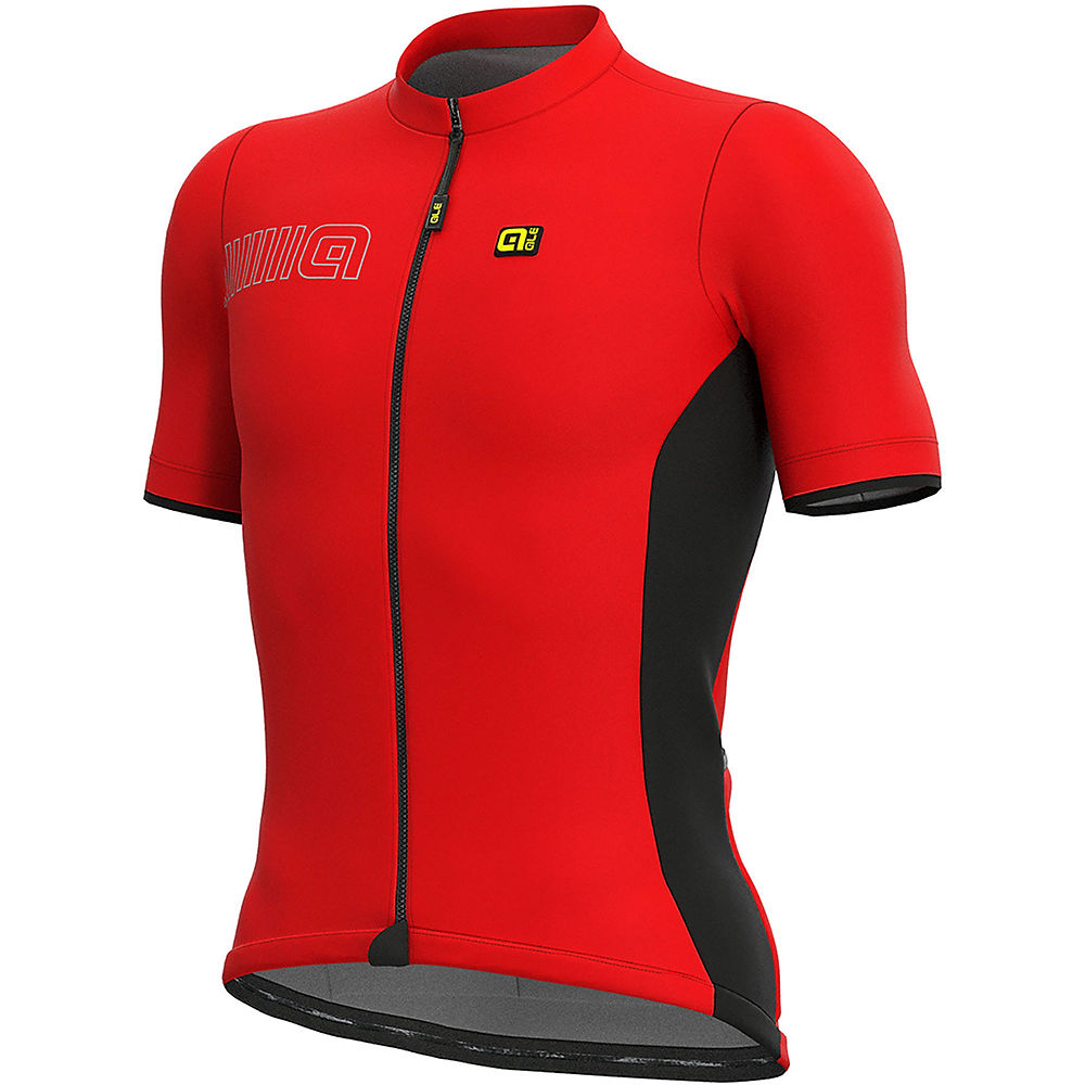 Alé Solid MC Colour Block Jersey – Red – XL, Red