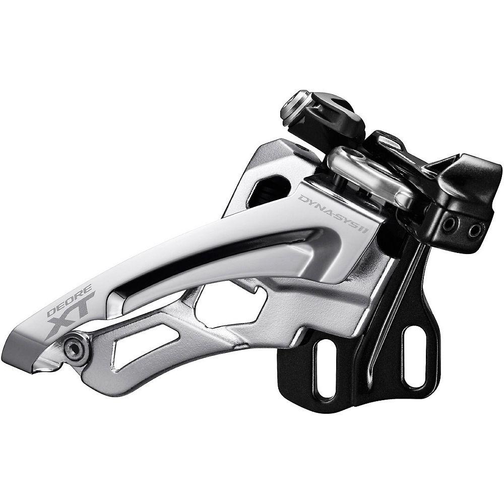 Shimano XT M8000 E 2x11 MTB Front Derailleur - Black - Silver - E2 Type, Black - Silver