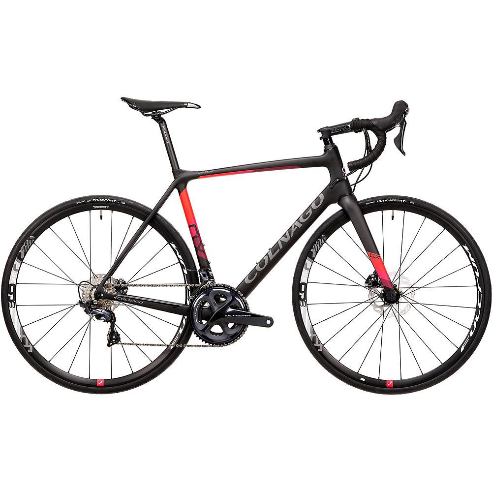 Bici da strada Colnago CLX Evo Disc (Ultegra) 2020 - nero - grigio - rosso - 50cm (19.75