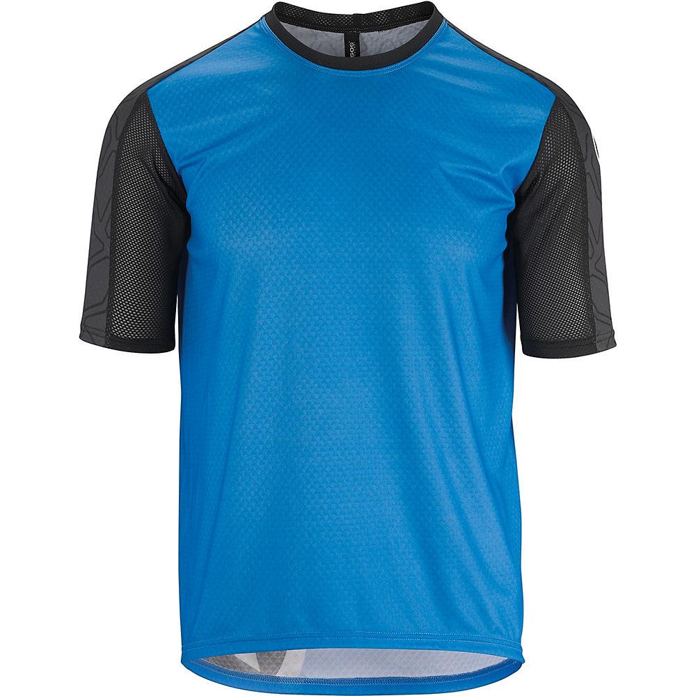 Assos Short Sleeve Trail Jersey  – Corfu Blue – M, Corfu Blue