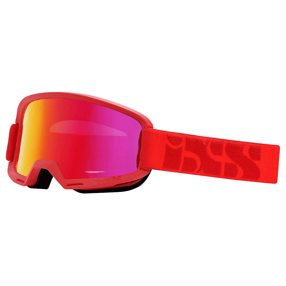 IXS Hack Goggle - Racing Red- Mirror Crimson, Racing Red- Mirror Crimson