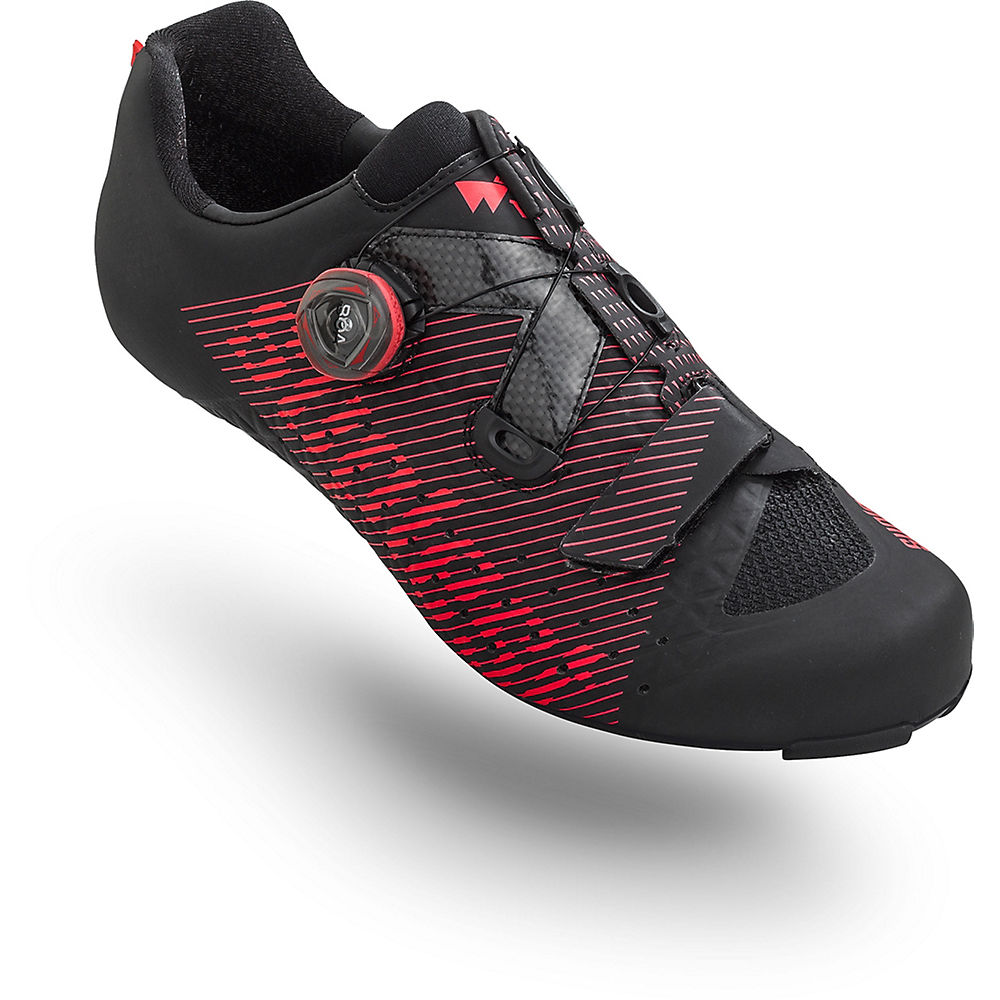 Image of Chaussures de route Suplest Edge3 BOA IP1 - Noir/neon red - EU 47, Noir/neon red
