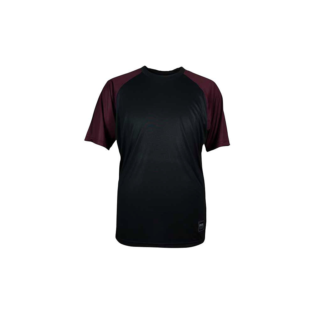Image of Maillot Royal Heritage (manches courtes) - Noir/Plum Red Heather, Noir/Plum Red Heather