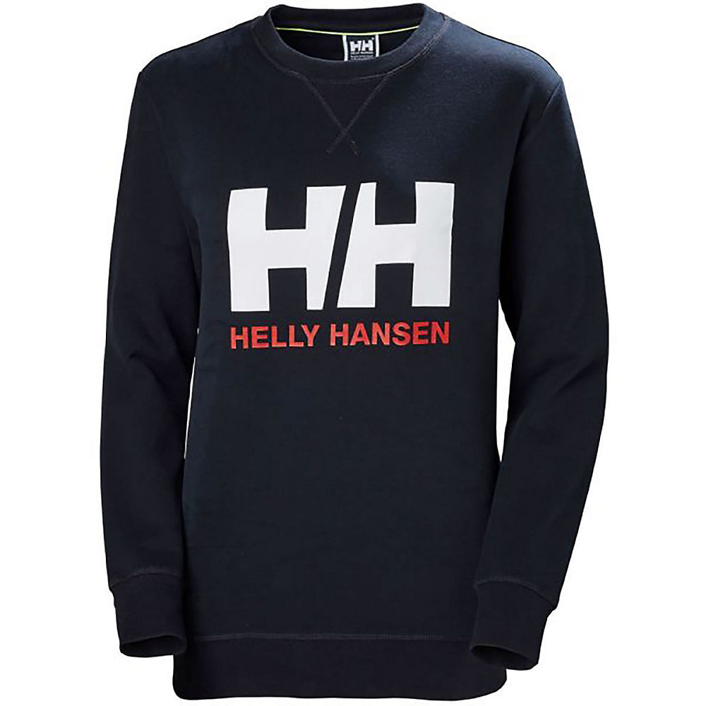 helly hansen women's logo crew sweater  - xs - navy