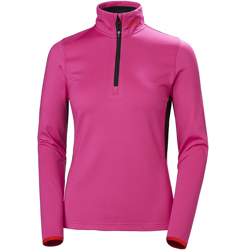 helly hansen womens phantom mesh 1-2 zip midlayer  - dragon fruit