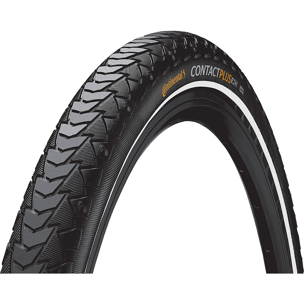 Continental Contact Plus Touring Tyre - Black-Reflective - 28