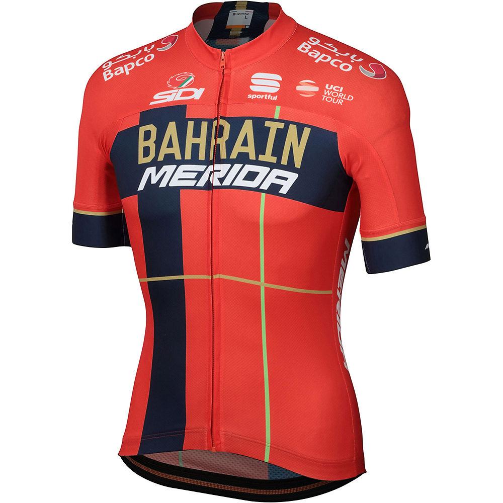 sportful bahrain merida bodyfit team jersey  - red-blue
