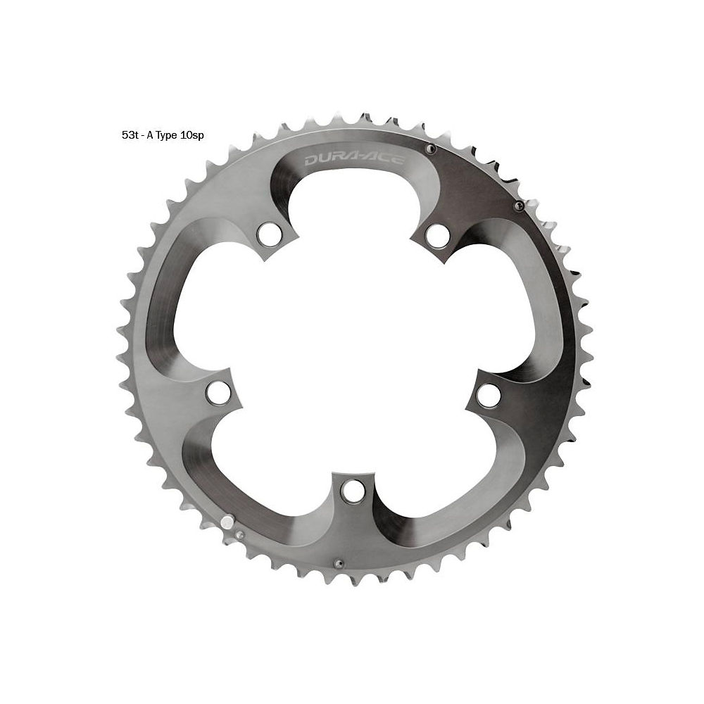 Shimano Dura-ace Fc7800 Double Chainrings - Silver - 53t  Silver