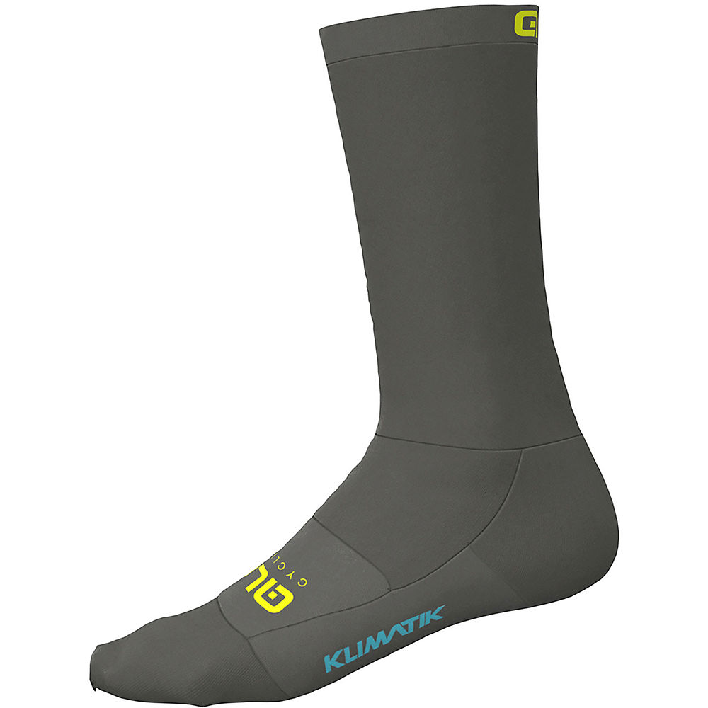Ale Team Klimatik Socks - Grey Fluo Yellow  Grey Fluo Yellow