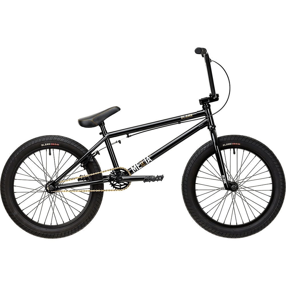 "Blank Media XL 20"" BMX Bike 2020 - Black - 21"" TT, Black"