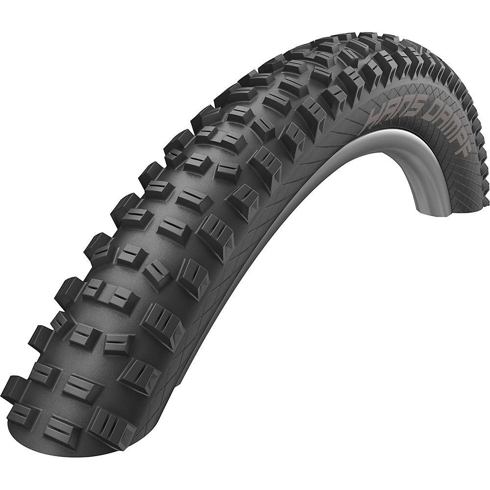 Schwalbe Hans Dampf Tlr Twinskin Easy Bike Tyre - Black - Folding Bead  Black