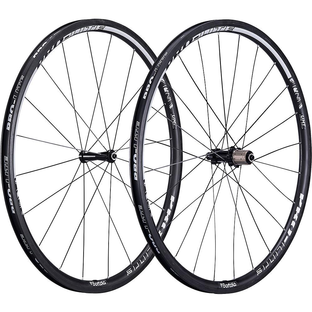 Image of Pro-Lite Bortola C28W Carbon Clincher Wheelset - Noir - Campagnolo, Noir