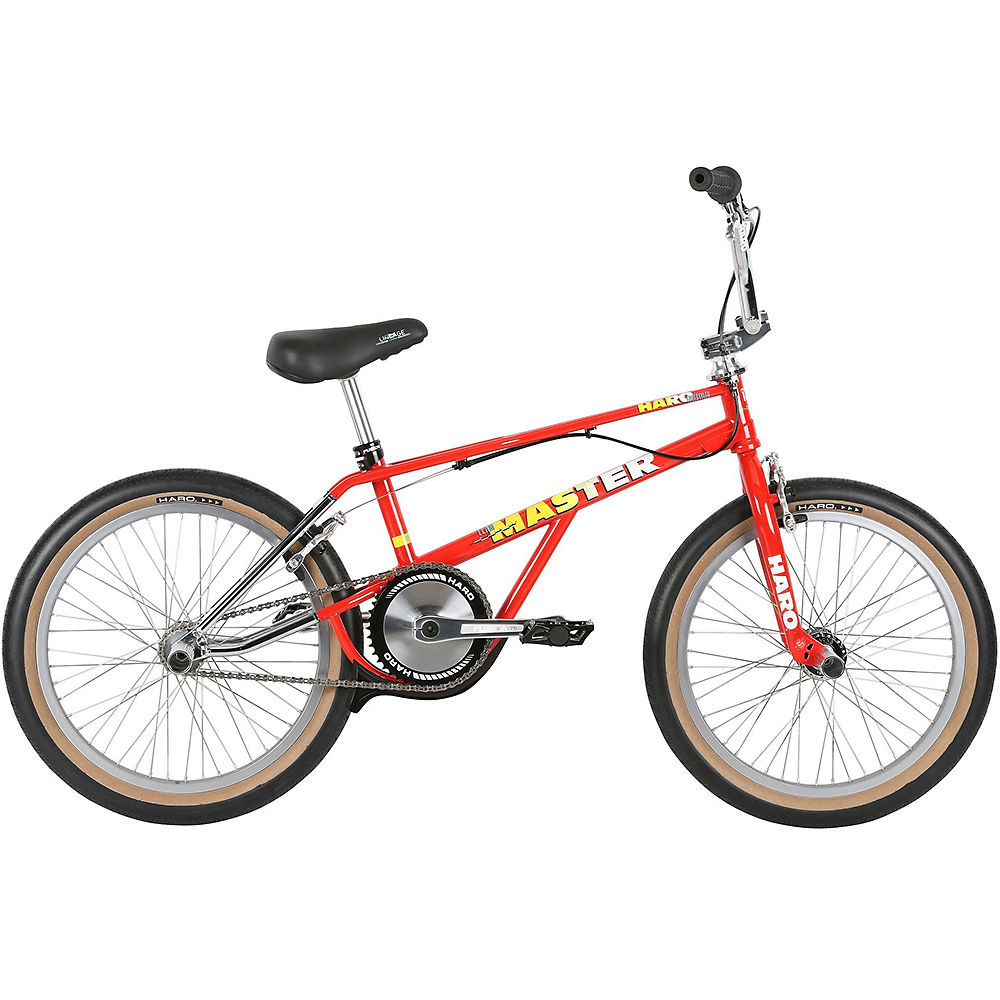 Haro Lineage Team Master Bashguard BMX Bike 2019 - Chrome-Bright Red - 20.75