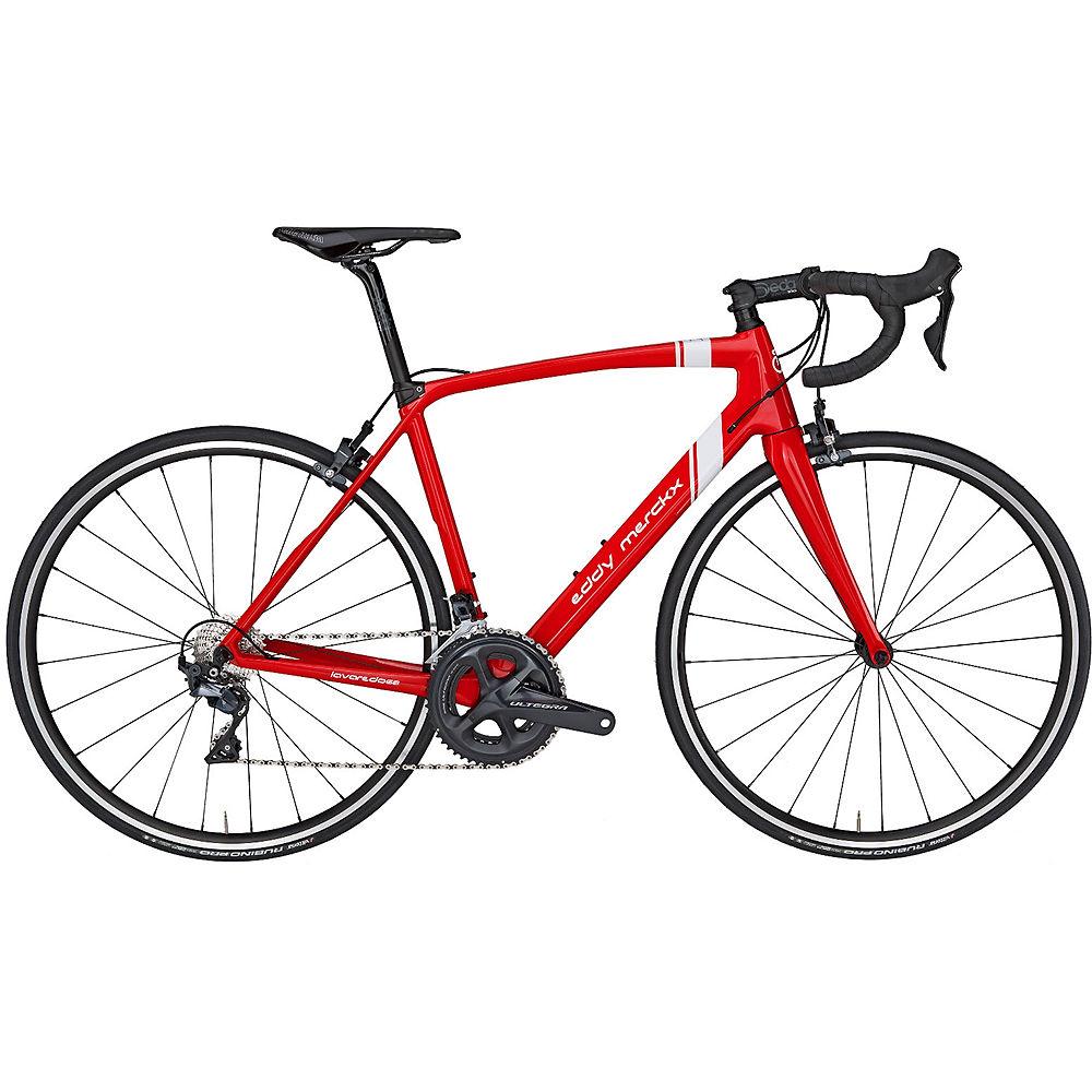 Eddy Merckx Lavaredo68 Ultegra Mix Road Bike 2019 - rosso - bianco