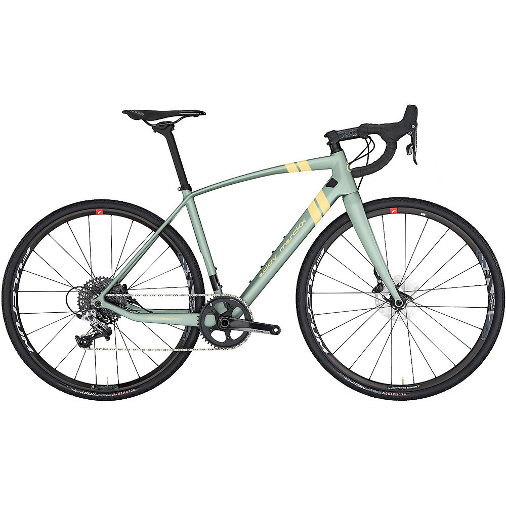 Eddy Merckx Strasbourg71 Rival 1 Disc Gravel Bike 2019 - Pistache Green - Beige