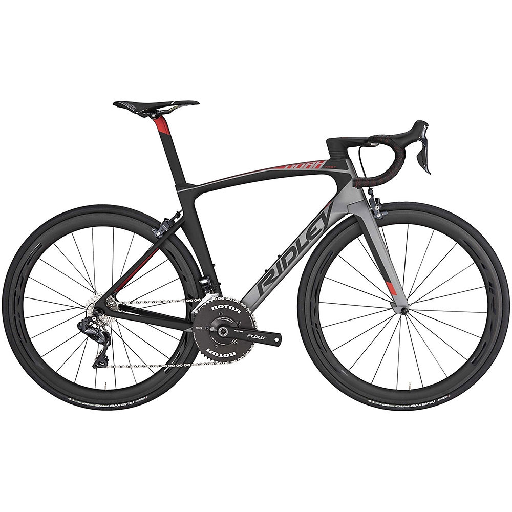 Ridley Noah Fast Ultegra Di2 Road Bike 2019 - Grey Metallic - Black - Red Metallic, Grey Metallic - Black - Red Metallic