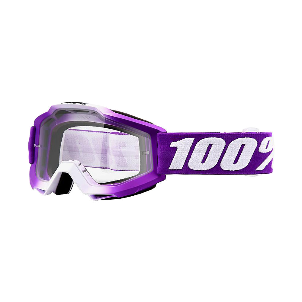 Image of 100% Accuri Youth Goggles Mirror 2019 - Framboise - Clear Lens, Framboise - Clear Lens