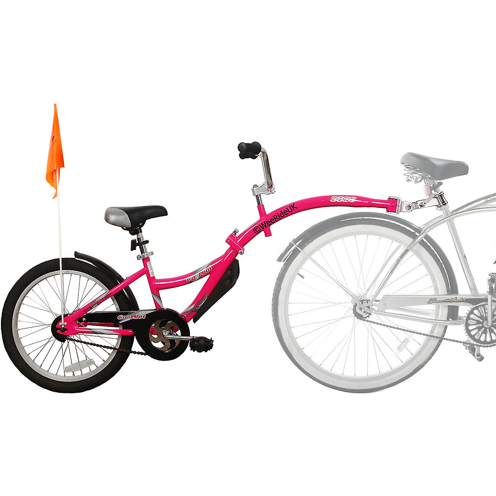 Image of WeeRide Co Pilot Tagalong Trailer Bike - Rose, Rose
