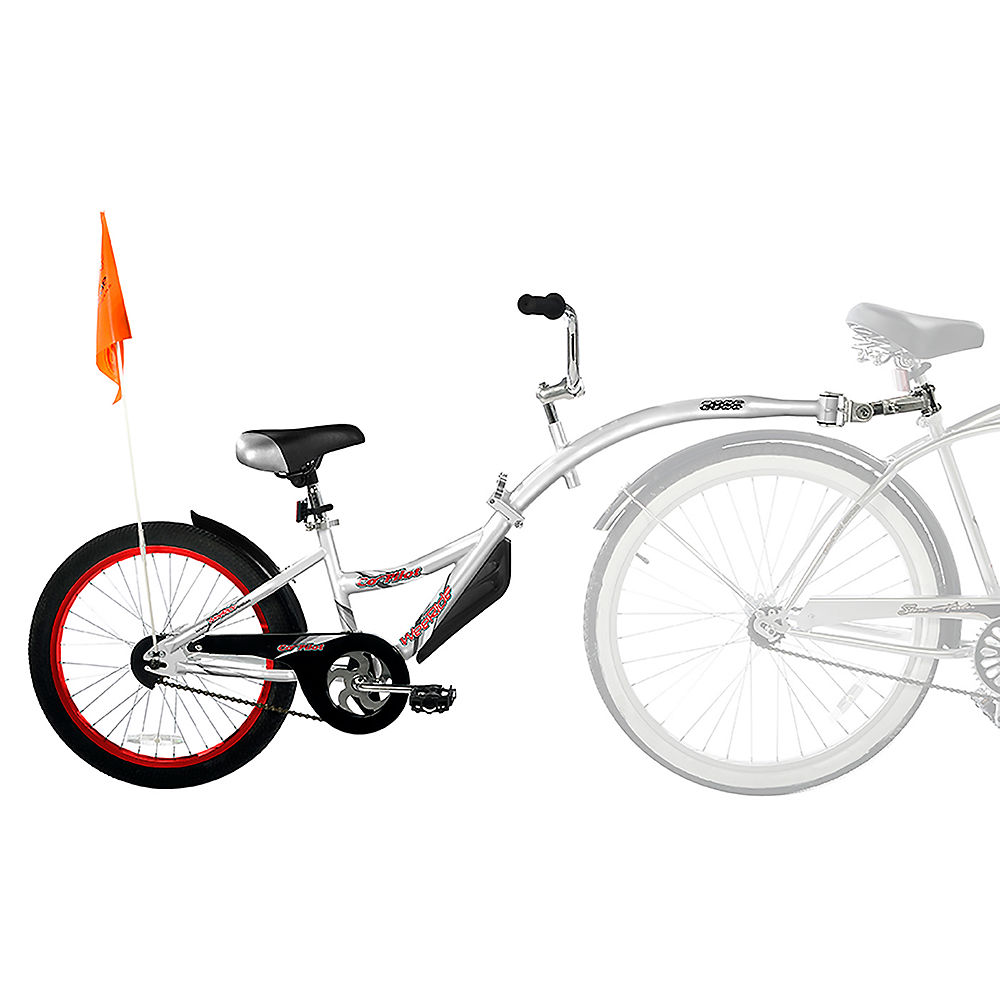 Image of WeeRide Co Pilot Tagalong Trailer Bike - Argent, Argent