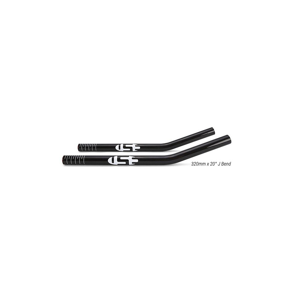 Use Aero Bar Carbon Extensions - Black 3k Weave Carbon - 320mm 50u00b0 J Bend  Black 3k Weave Carbon