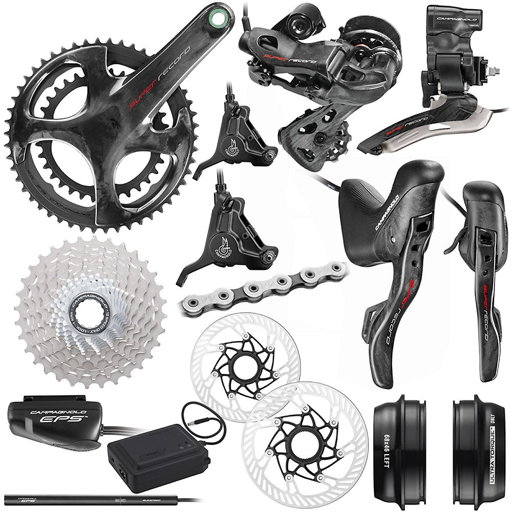 Campagnolo Super Record EPS 12sp Road Groupset-Disc - Carbon - 11-32t, Carbon