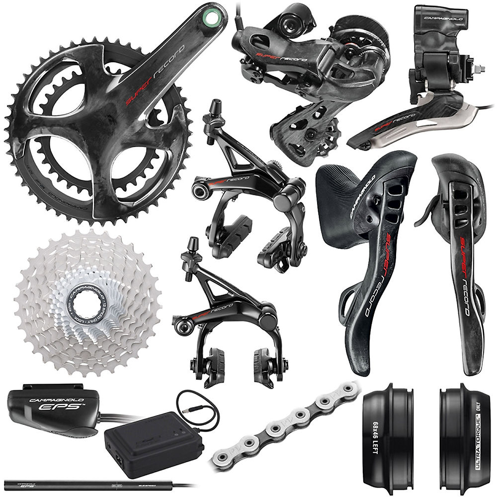 Campagnolo Super Record EPS 12 Speed Road Groupset - Carbon - 11-32t, Carbon