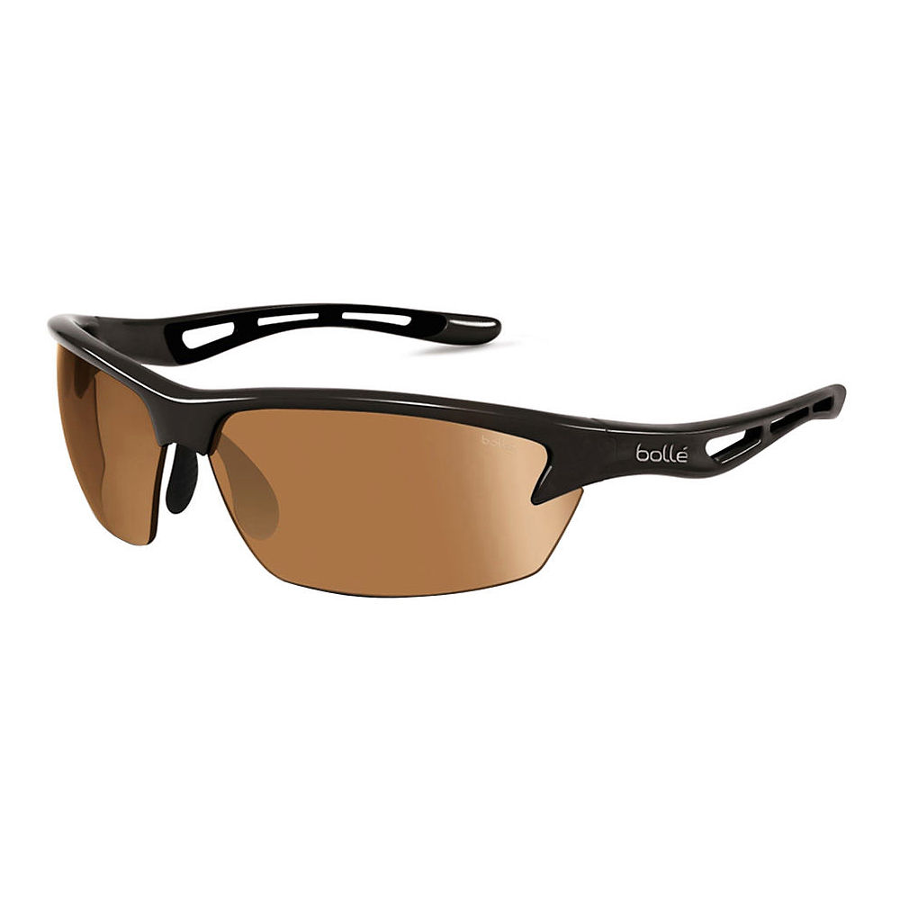 Image of Bolle Bolt Sunglasses Shiny - Shiny Black Phantom Brown Gun, Shiny Black Phantom Brown Gun