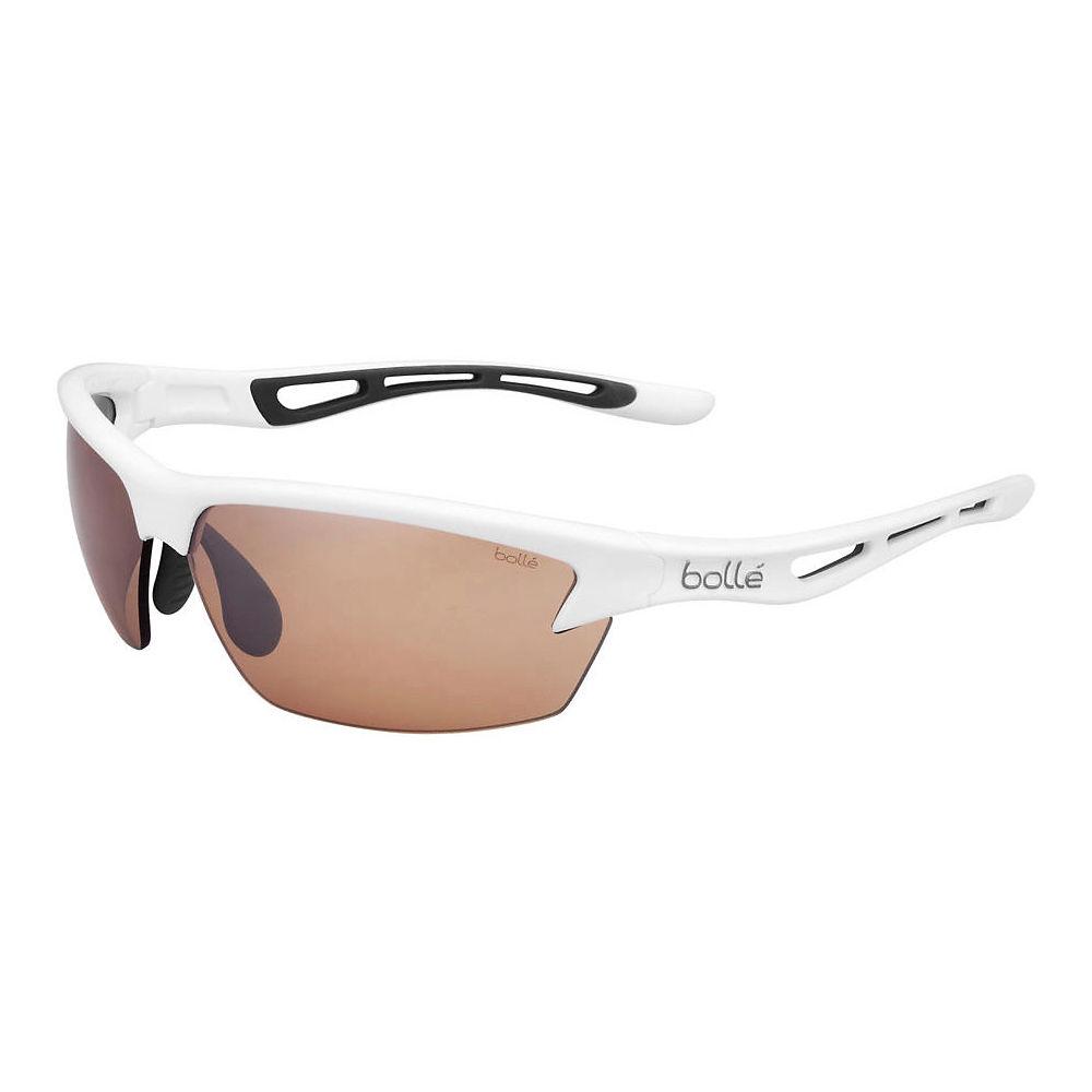 Image of Bolle Bolt Sunglasses Shiny - Shiny White Phantom Brown Gun, Shiny White Phantom Brown Gun