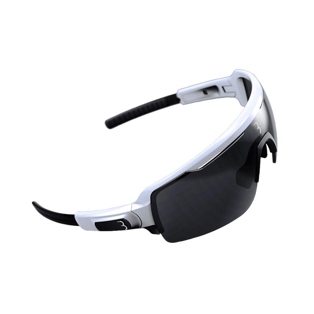 Image of BBB Commander Sport Glasses - Gloss White Smoke Lenses, Gloss White Smoke Lenses