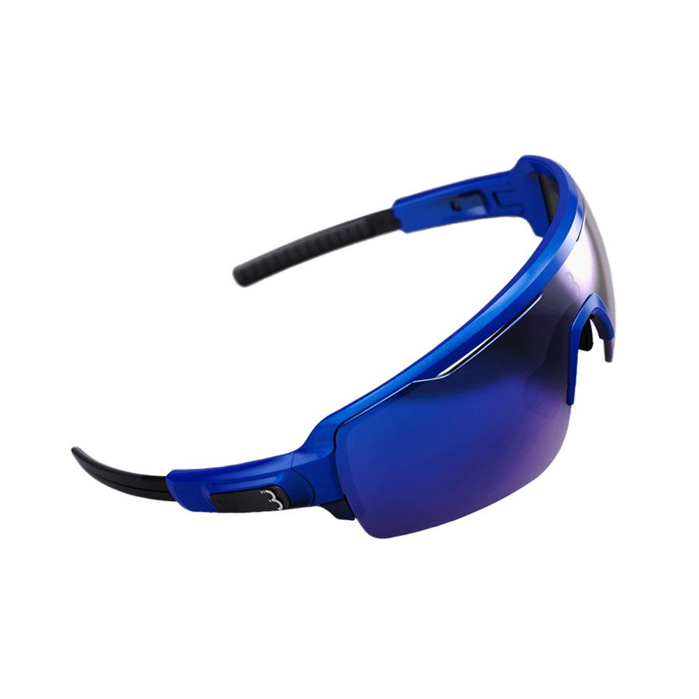 Image of BBB Commander Sport Glasses - Metallic Blue Blue Lenses, Metallic Blue Blue Lenses