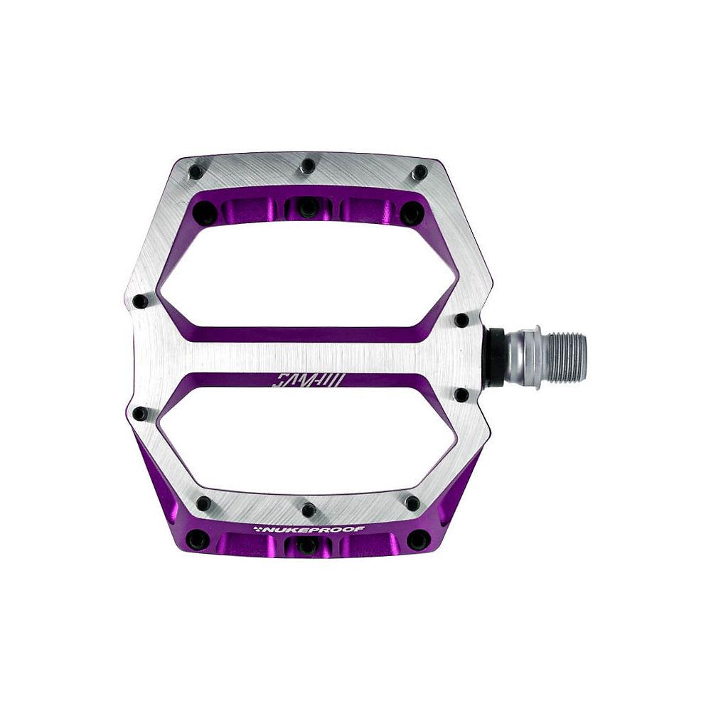 Nukeproof Horizon Pro Sam Hill Enduro MTB Pedals - Purple, Purple