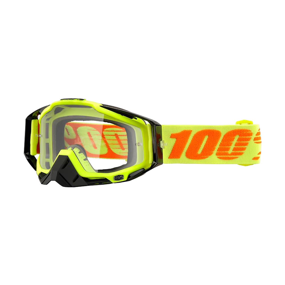 100% Racecraft Goggle - Clear Lens - Attack Yellow  Attack Yellow