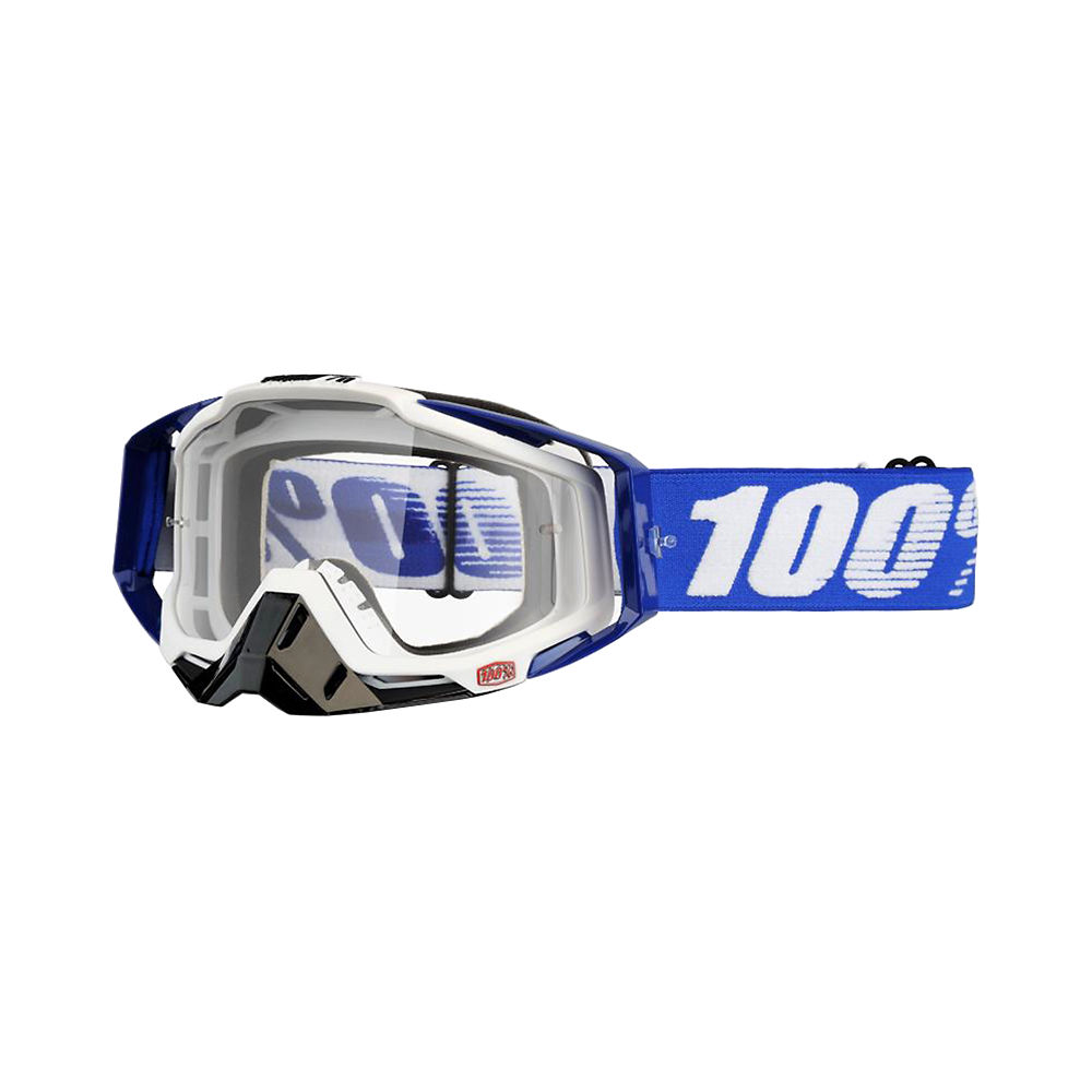100% Racecraft Goggle - Clear Lens - Cobalt Blue, Cobalt Blue