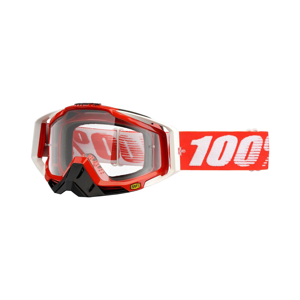 100% Racecraft Goggle - Clear Lens - Fire Red, Fire Red