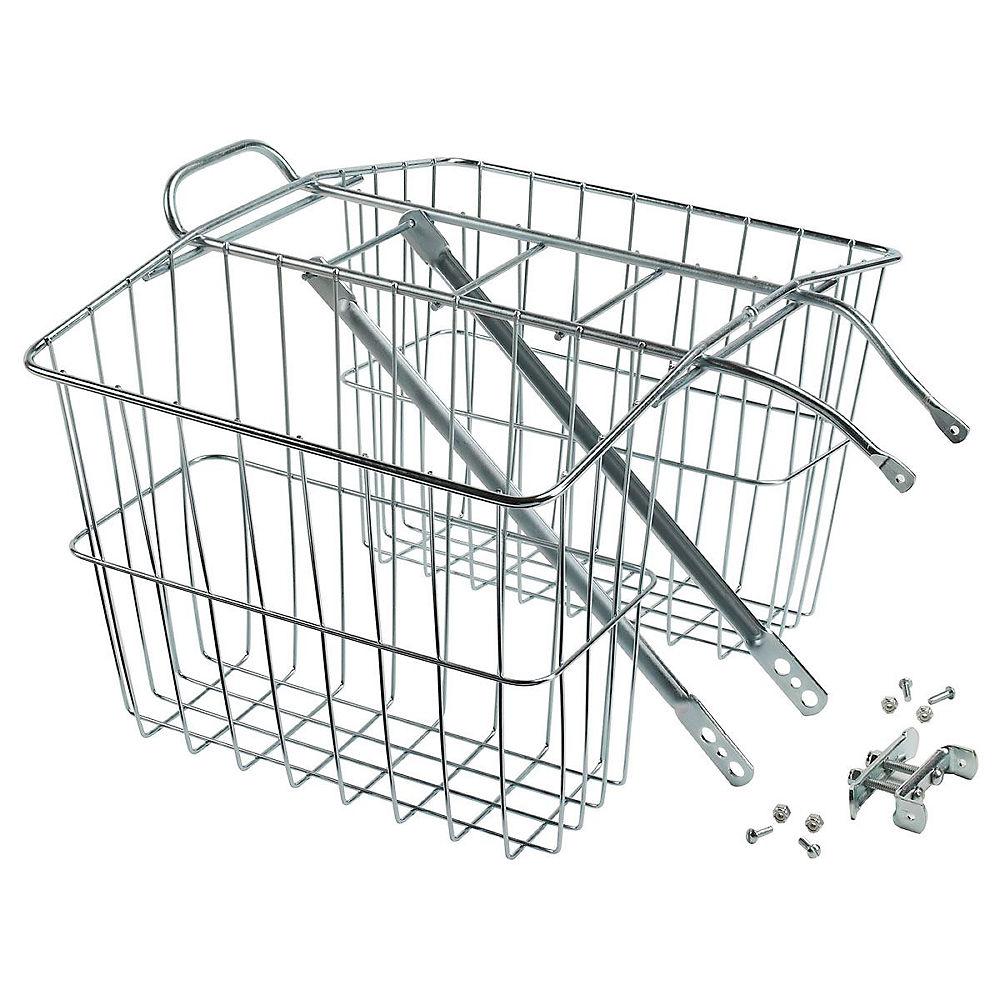 Image of Wald 520 Twin Carrier Basket - Argent, Argent