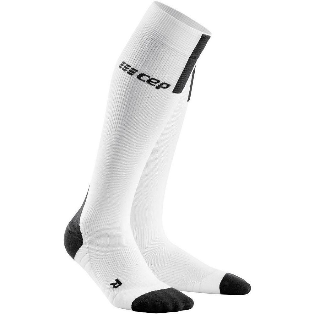 CEP Women's Run Socks 3.0 - White-Dark Grey - L, White-Dark Grey