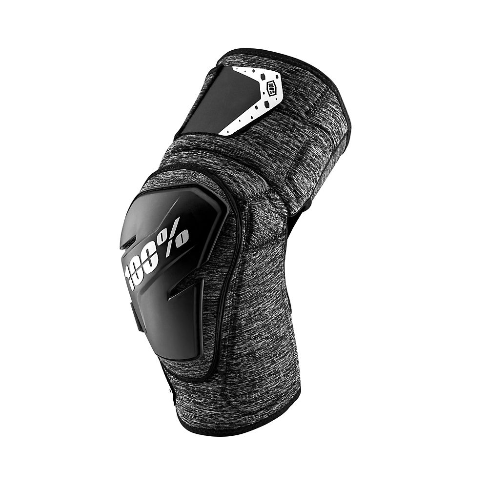 100% Fortis Knee Guard  - Charcoal Heather - S/M, Charcoal Heather
