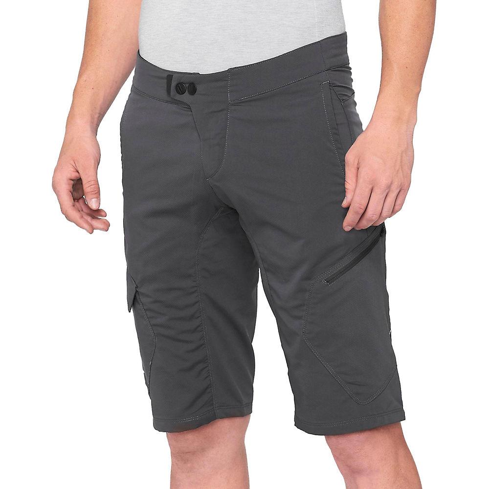 100% Ridecamp Shorts - Charcoal - 36  Charcoal