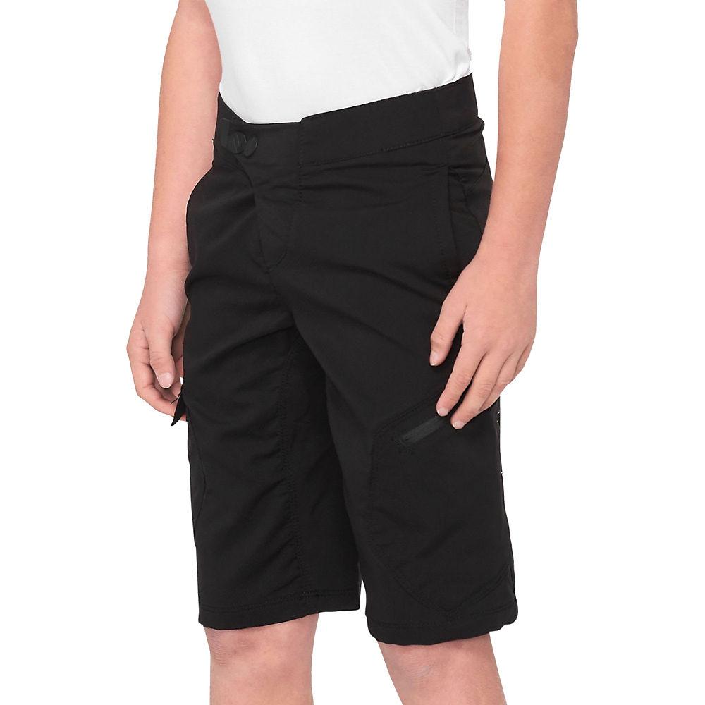 100% RideCamp Youth Shorts  - Black - 24