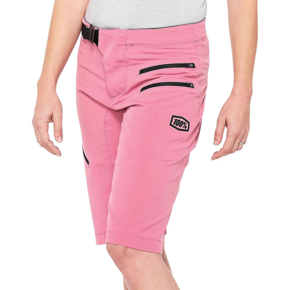 100% Womens Airmatic Shorts  - Purple - Xl  Purple