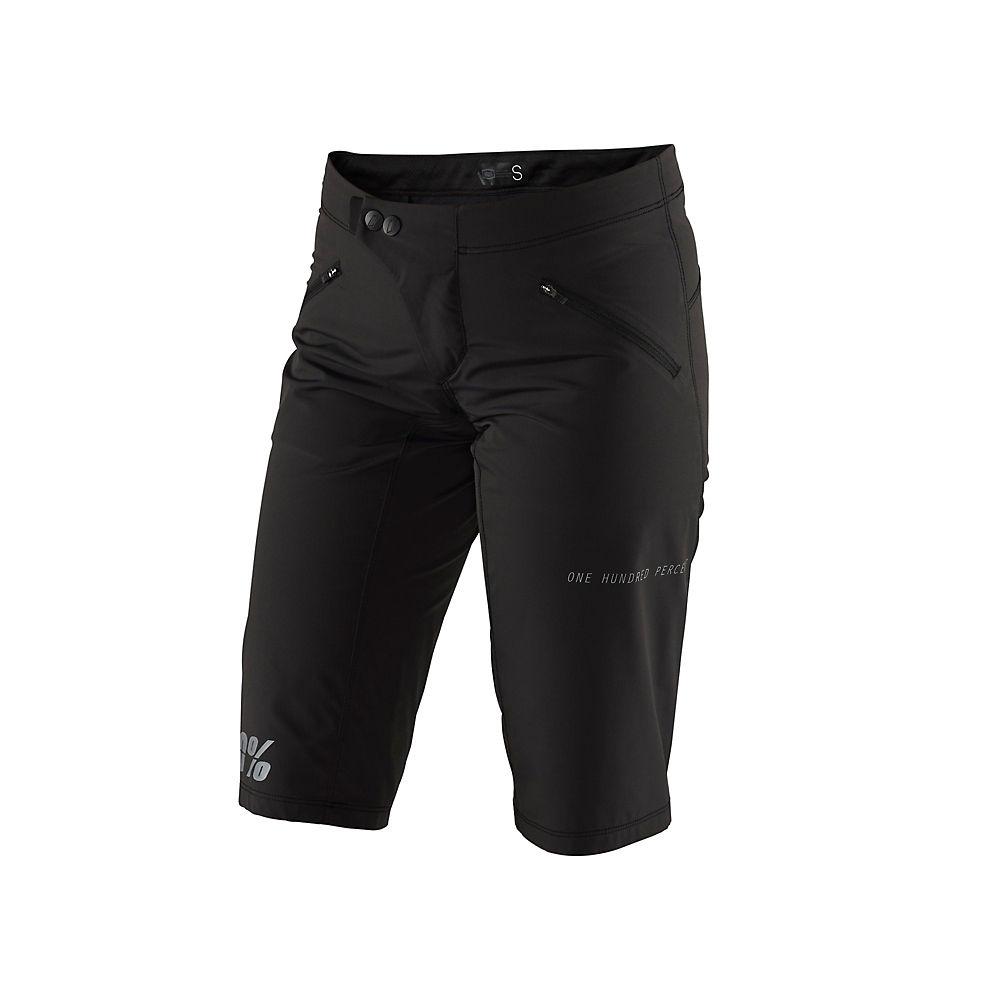 100% Womens Ridecamp Shorts  - Black  Black