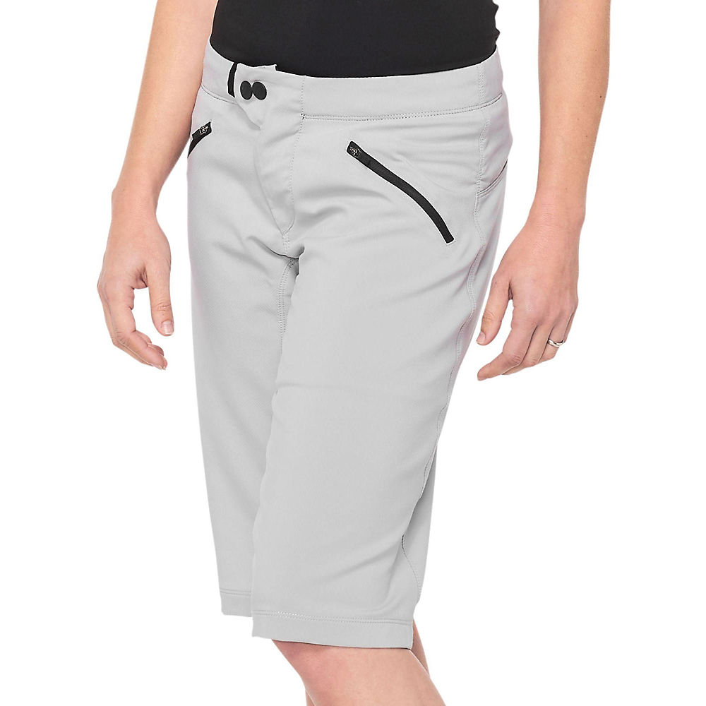 100% Womens Ridecamp Shorts  - Grey - L  Grey