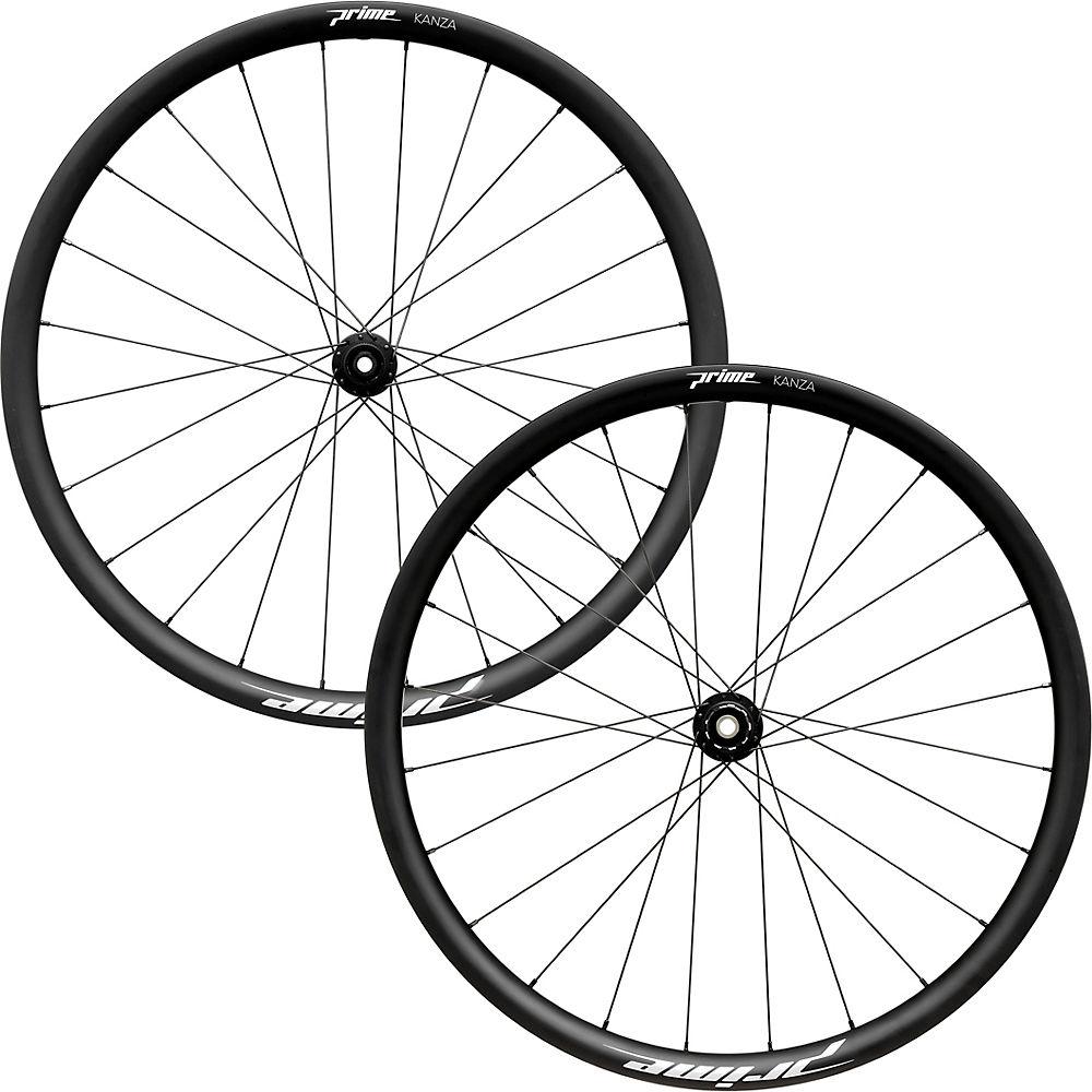 Juego de ruedas de carbono para grava Prime Kanza 650B - Negro, Negro