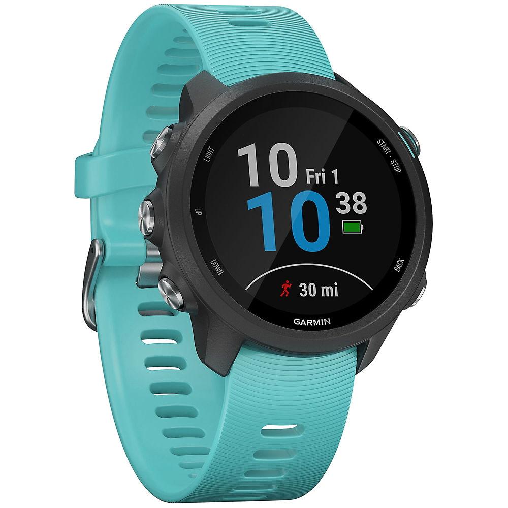 Garmin Forerunner 245 Music GPS Running Watch - Black - Aqua, Black - Aqua