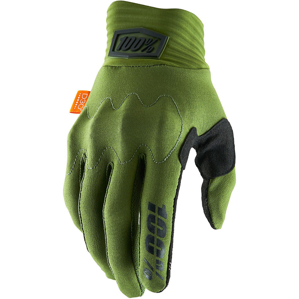 100% Cognito D30 Gloves - Army Green-Black, Army Green-Black