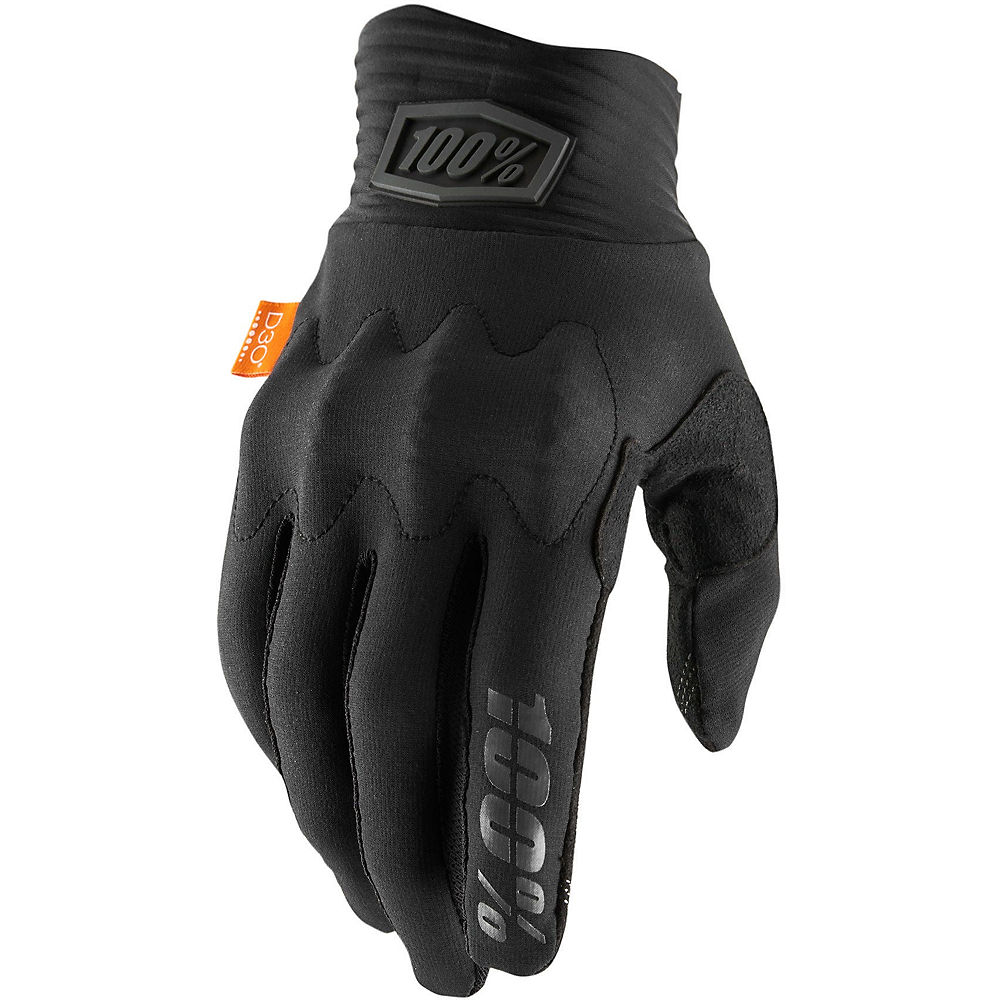 100% Cognito D30 Gloves - Black-Charcoal - XL, Black-Charcoal