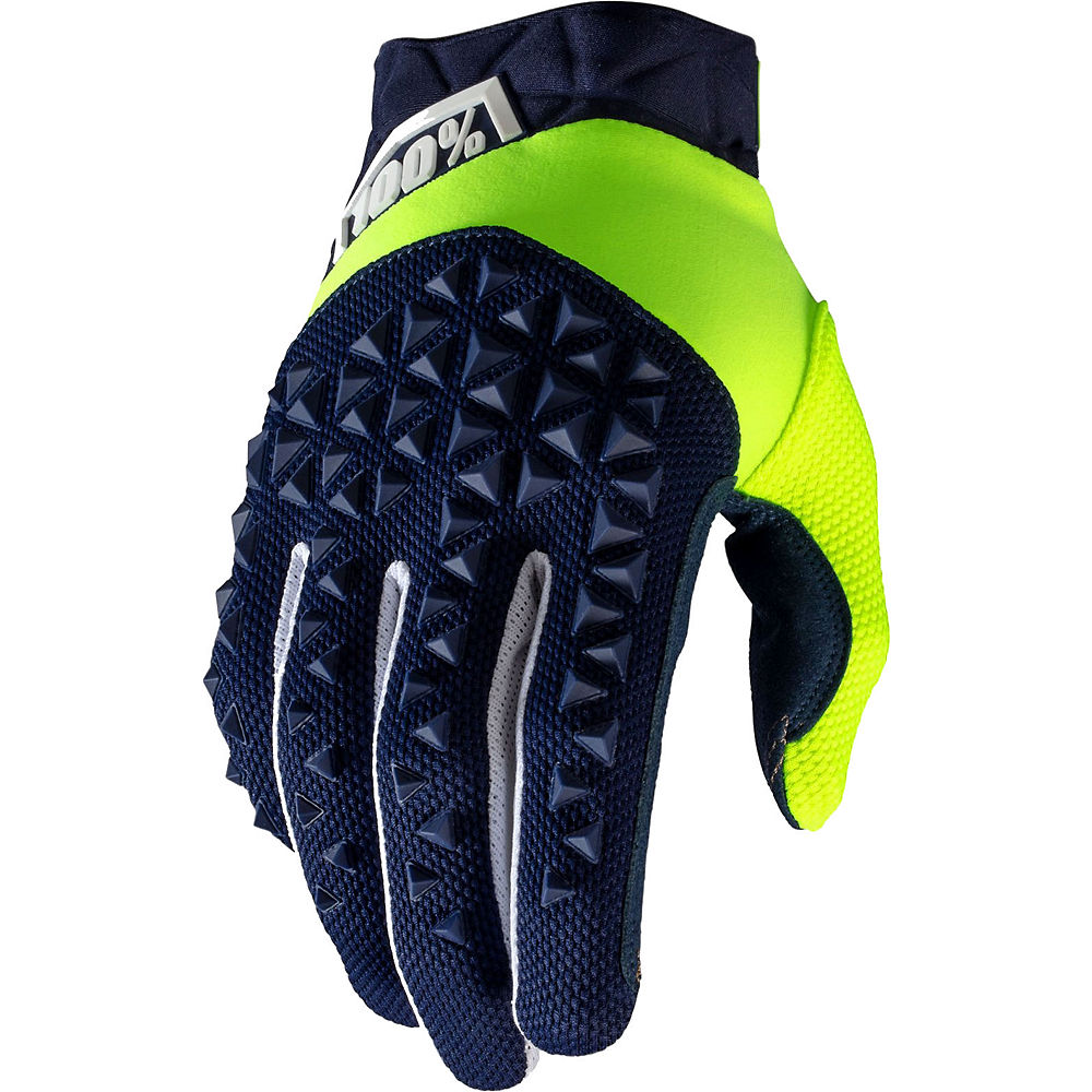 100% Airmatic Gloves - Navy-Fluo Yellow - XL, Navy-Fluo Yellow