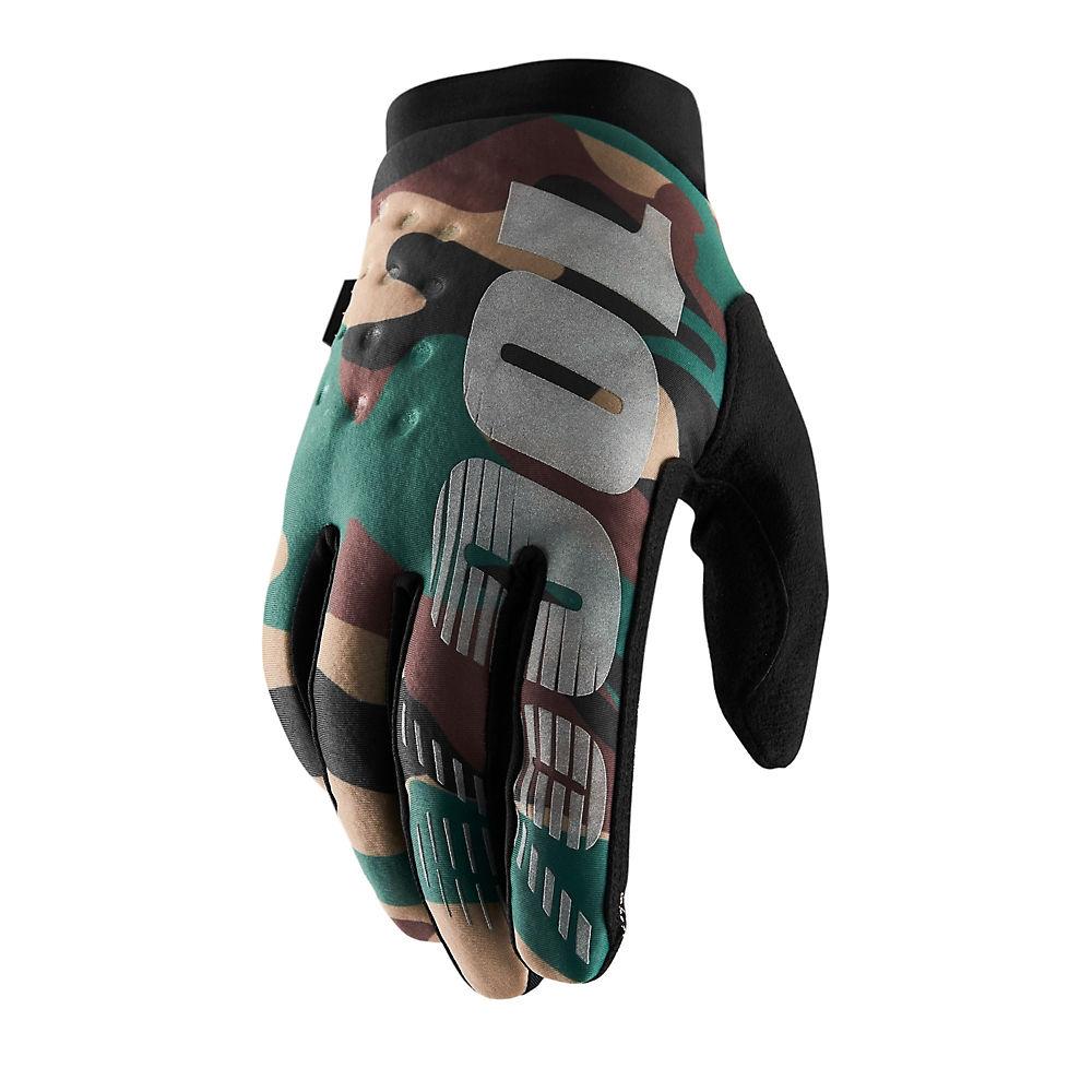 100% Brisker Gloves - Camo-Black - XL, Camo-Black