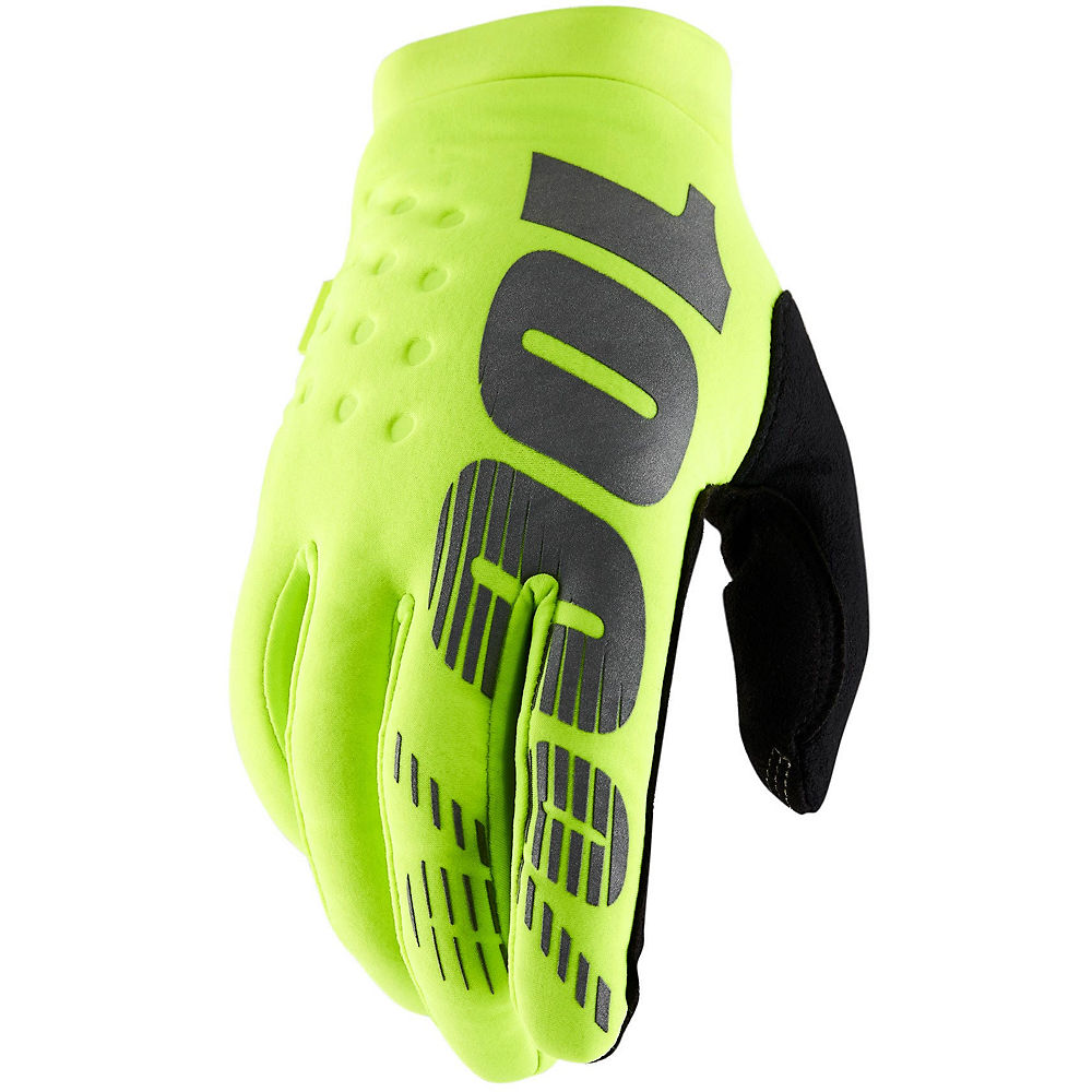 100% Brisker Gloves - Fluo-yellow - Xl  Fluo-yellow